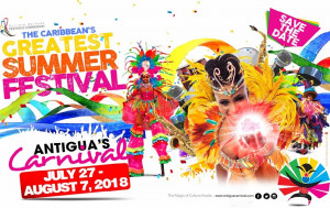 Antigua celebrated its first carnival in August 1957 as a celebration of the country and also marking emancipation