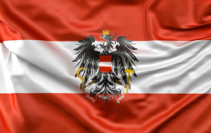 The Austrian flag is one of the oldest national flags. The red and white stripes are first recorded in 1191, when Duke Leopold V fought in the siege of Acre during the Third Crusade. It was officially adopted as the national flag in 1918.