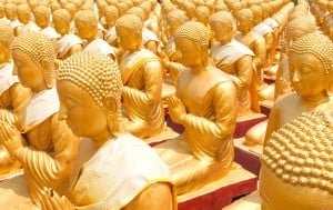 Shortly after Buddha began his teachings, 1250 monks gathered to hear Buddha preach.