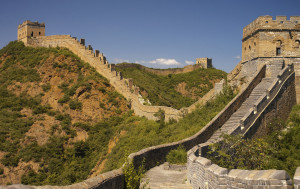 The Great Wall of China is 13,170 miles long. It was built by one million laborers 2,200 years ago. 400,000 of those workers died while making it and their bodies were buried inside the wall. It's so long that it covers three countries - China, North Korea and Mongolia.