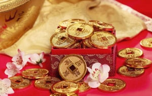 Instead of wrapped gifts that other nationalities give at their main holiday season, for Chinese New Year, children receive red envelopes stuffed full of money. The amount of money is usually an even number - but the amount is not divisible by four, as the number 4 means death.