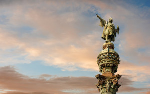 Christopher Columbus' real name was Cristoforo Columbo. He was born in 1451 in Genoa, Italy