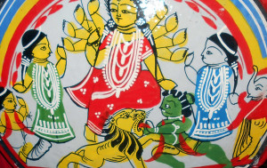 Hindu festival in South Asia that celebrates worship of the Hindu goddess Durga