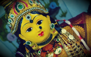 The most important day to worship the Goddess Lakshmi falls on the full moon day in lunar month Ashwin