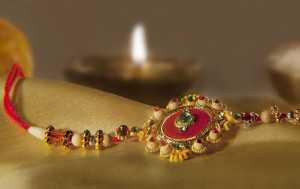 Raksha Bandhan is a Hindu festival that celebrates the love and duty between brothers and sisters.
