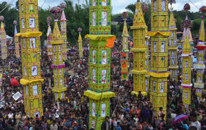 Behdienkhlam (chasing away the Demon of Cholera) is celebrated in mid-July after the sowing period. It is the most important festival of the Jaintia tribes