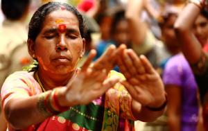 A Hindu festival in Telangana celebrating Goddess Mahakali in the twin cities of Hyderabad and Secunderabad
