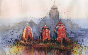 Odisha. A festival that involves moving large idols of deities on a chariot