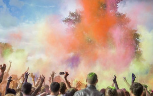 The ancient Hindu festival of colours, Holi, heralds the end of winter and the victory of good over evil, is marked with a public holiday and sees revellers pou