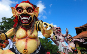 Hari Raya Nyepi is the Balinese Hindu New Year. It is celebrated on the first new moon in March