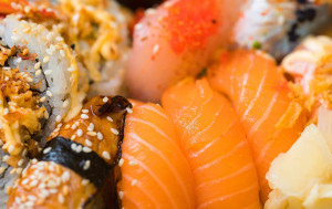 Norway introduced salmon sushi to Japan. Salmon wasn't used in sushi in Japan until it was suggested by a Norwegian delegation in the 1980s.