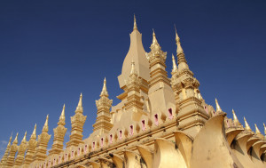 Pilgrimage to That Luang Stupa in Vientiane on the full moon in the twelfth lunar month