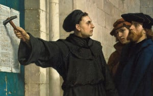 Commemorates the day in 1517 when Martin Luther nailed his 95 'these' to the door of the church in Wittenburg