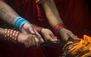 Teej is a festival, celebrated in Northern India and Nepal to welcome the monsoon season