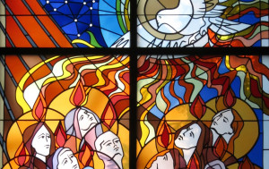 Celebrates the gift of the Holy Spirit. It is celebrated on the seventh Sunday after Easter