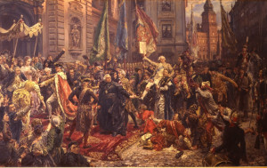 Constitution day marks the declaration and adoption of Poland's first constitution on 3 May 1791
