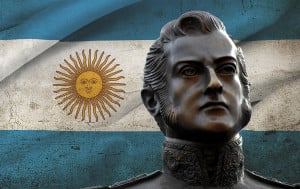 San Martin is regarded as the most important Argentinian founding father, who liberated not only a part of Argentina but also helped liberate Chile and Peru along with O'Higgins and Bolívar.
