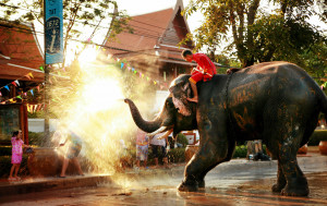 The Songkran festival is the traditional Thai New Year's Day and is celebrated from April 13 to April 15