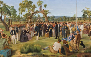 Celebrates the establishment of government in South Australia as a British province on 28 December 1836