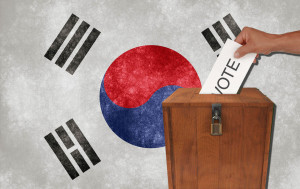 Holiday for the voting in the legislative election of South Korea