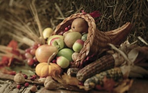 Fourth Thursday in November. Traditionally, this holiday celebrates the giving of thanks for the autumn harvest