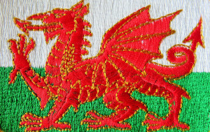Though the flag of Wales is a red Dragon on a green and white background, David has his own flag - a yellow cross on a black background.