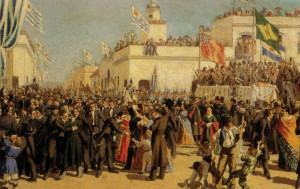 Marks the promulgation of the First Constitution of Uruguay in 1830