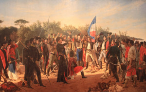 Commemorates the return of Juan Lavelleja and his 33 exiled Uruguayan fighters in 1825