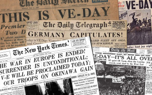 Victory in Europe Day marks May 8th 1945 when the Allies formally accepted an unconditional surrender by the armed forces of Germany