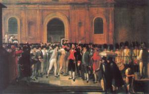 Declaration of a local junta in Caracas on 19 April 1810