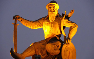 Commemorates the 350th birth anniversary of Baba Banda Singh Bahadur ji.