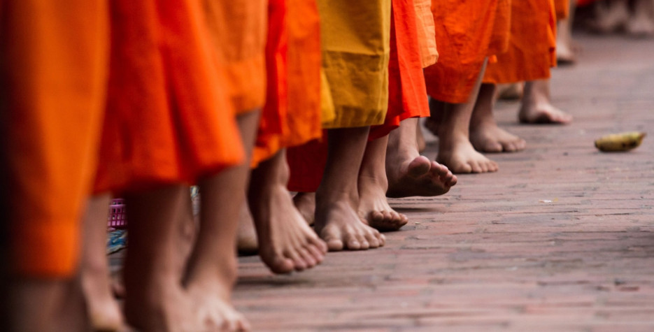 End of Buddhist Lent Day in Lao in 2020