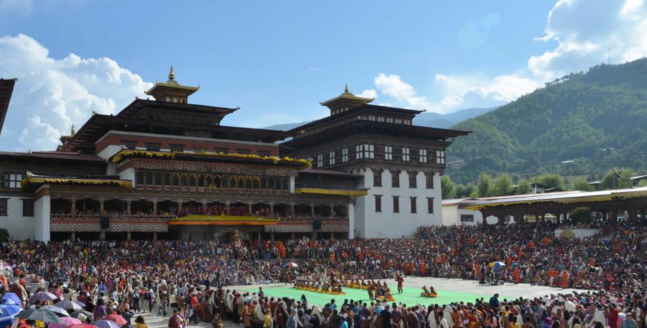 Thimphu Tshechu in Bhutan in 2020