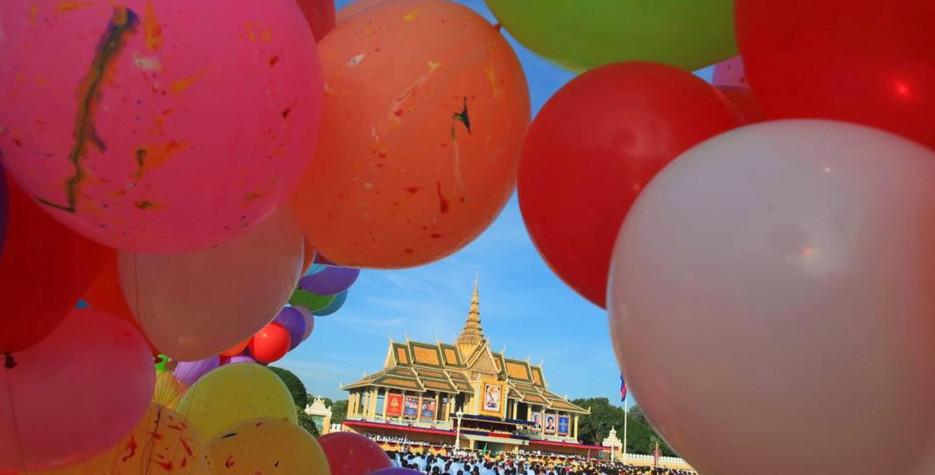 King's Coronation Day in Cambodia in 2019