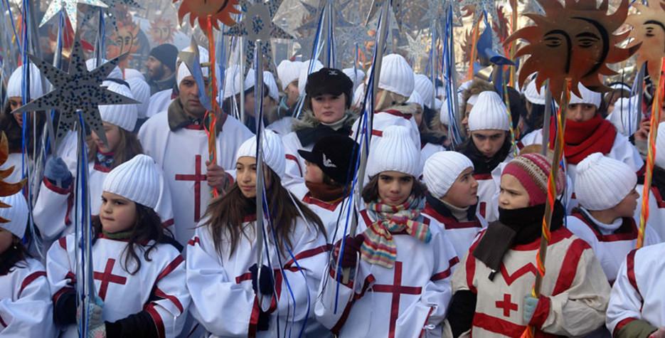 Orthodox Christmas in Georgia in 2021