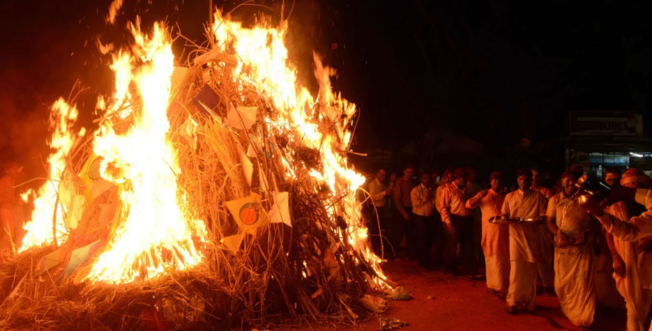 Holika Dahan in Uttar Pradesh in 2021