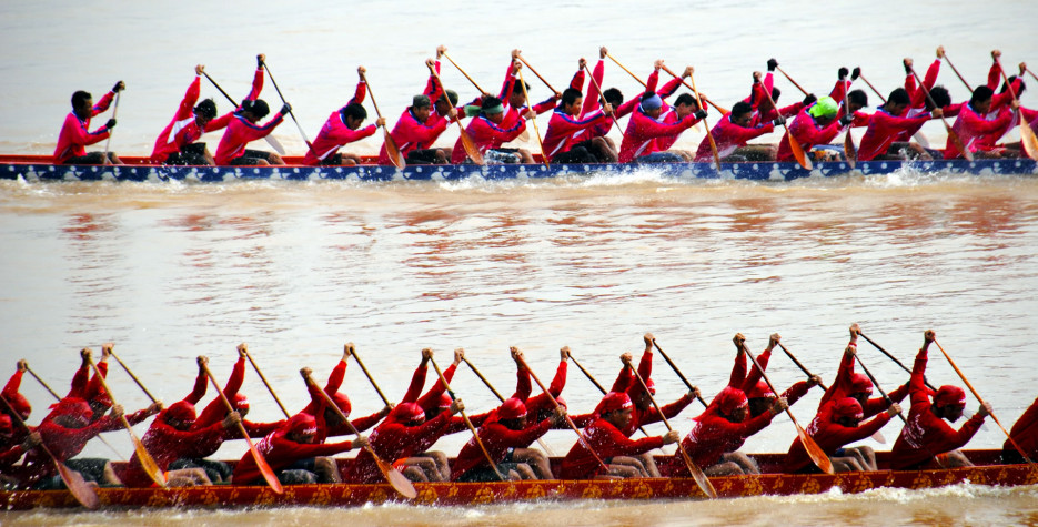 Boat Racing Festival in Lao in 2020