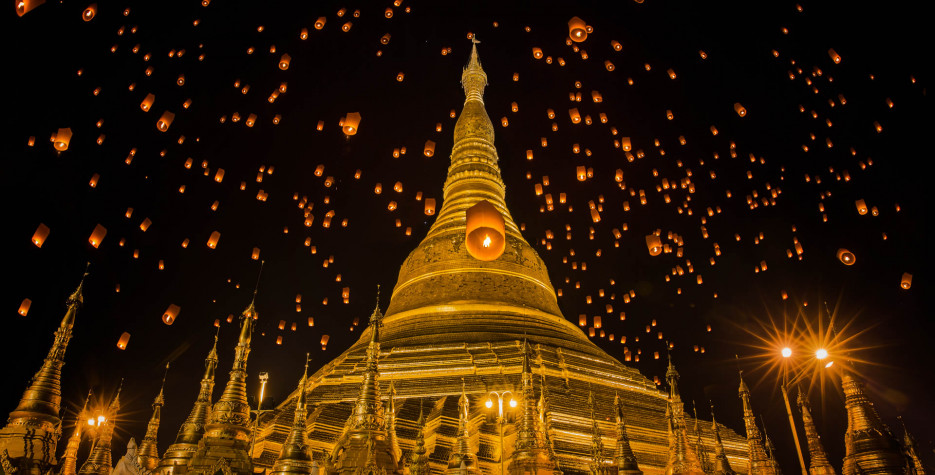 Full Moon of Tazaungmone Holiday in Myanmar in 2019