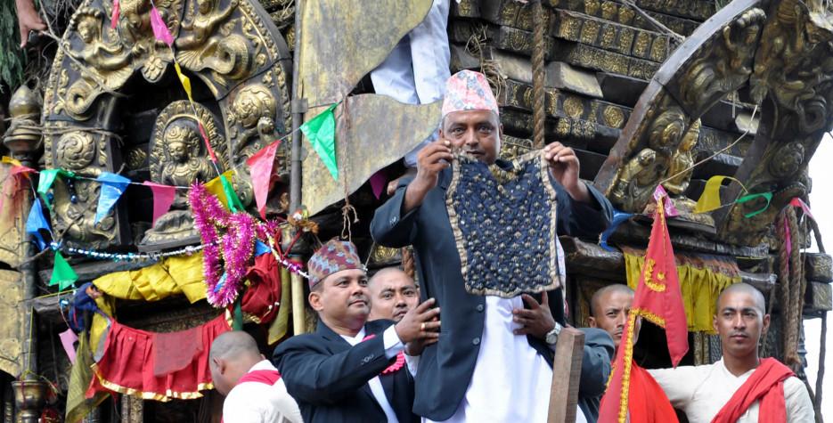 Bhoto Jatra in Kathmandu Valley in 2019