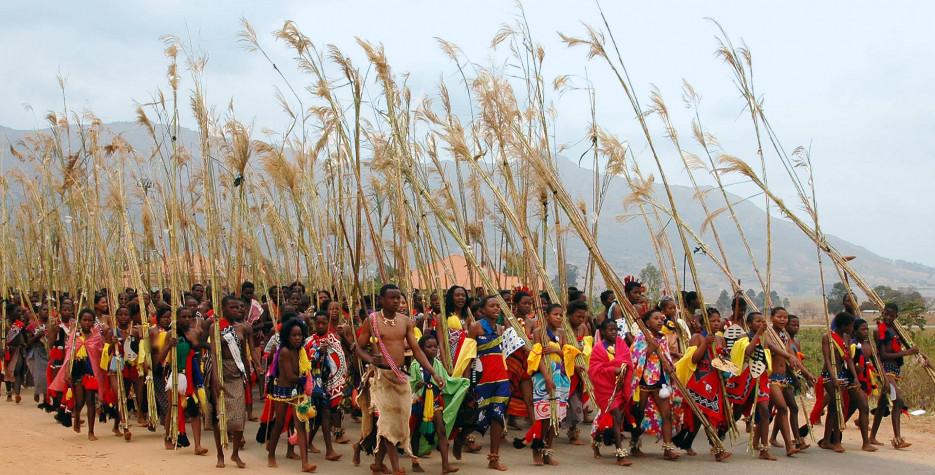 Umhlanga reed dance in Eswatini in 2021