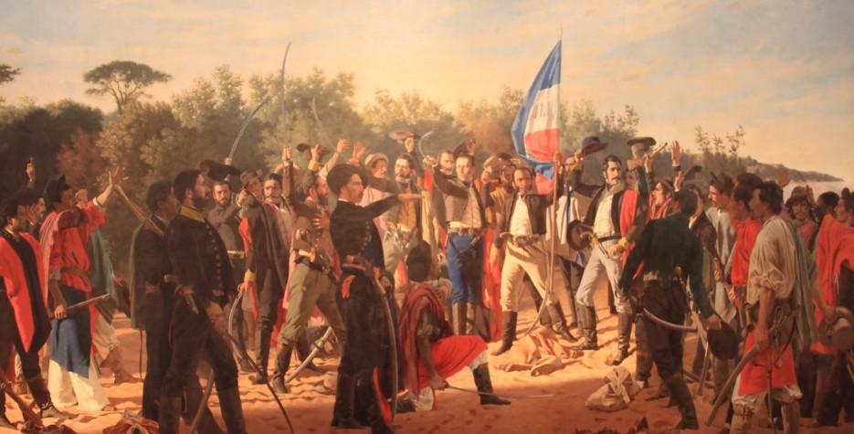 Landing of the 33 Patriots Day in Uruguay in 2020