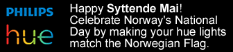 Change your Hue lights to celebrate Syttende Mai!