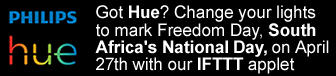 Celebrate Freedom Day, south Africa's National Day with your Hue lights!