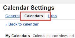 Add URL of ICS to Google Calender