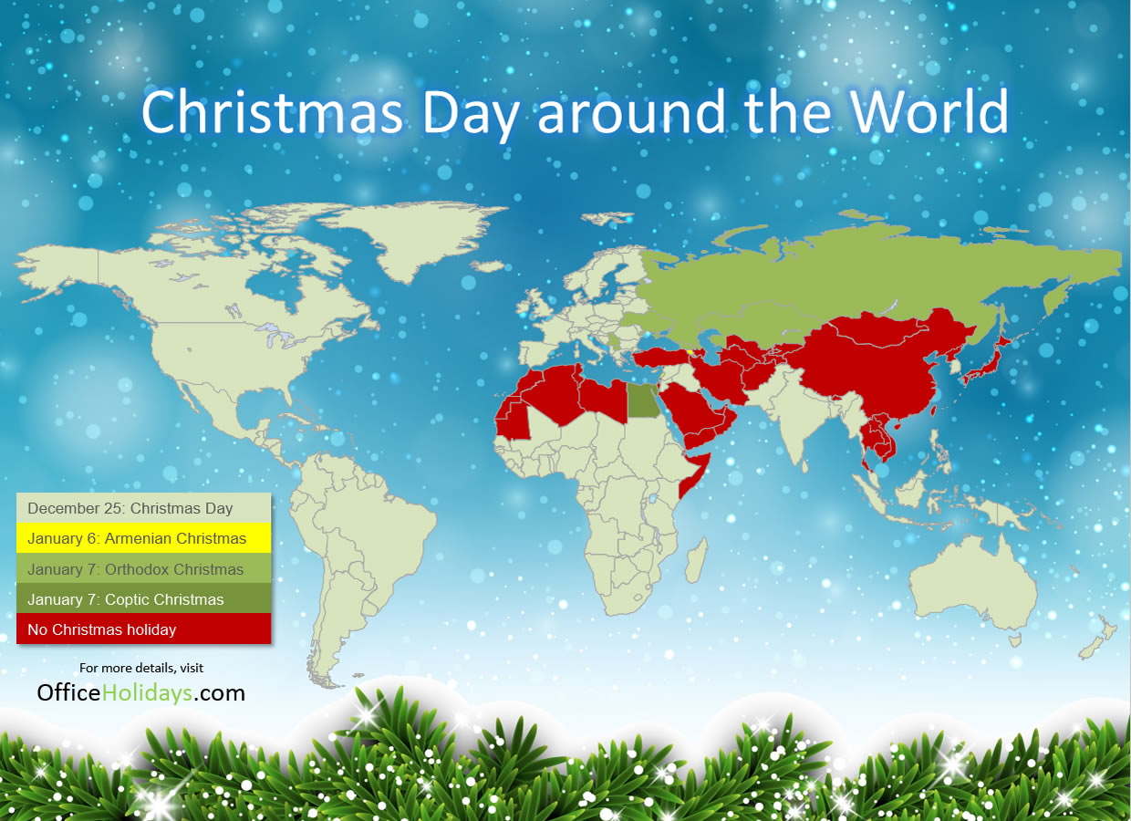 Christmas Day around the world | Office Holidays