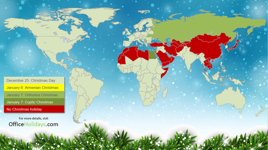 Christmas Day across the world